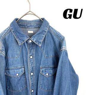 GU - 【美品】GU ジーユー 長袖 デニムシャツ 長袖シャツ