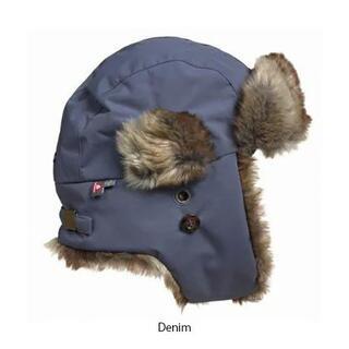 ★ISBJORN イスビジョンのパイロット帽子★ 温かい デニム denim(帽子)