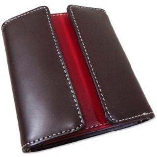 馬革×牛革コンパクトウォレット二つ折り財布 期間限定送料込み価格
