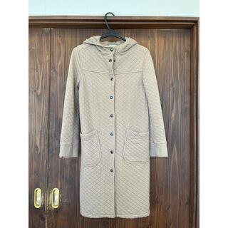 アーメン(ARMEN)のアーメン コットンキルトフードコート ブラウンキャメル サイズ0(ロングコート)