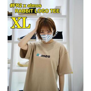 アトモス(atmos)の#FR2 x atmos RABBIT LOGO TEE BEIGE【XL】(Tシャツ/カットソー(半袖/袖なし))
