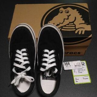 クロックス(crocs)の値下げ☆クロックス☆crocs☆軽量☆スニーカー☆黒☆22cm☆M4☆(スニーカー)