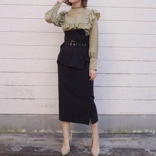 スナイデル(snidel)のSNIDEL ハイウエストポンチタイトスカート(ひざ丈スカート)