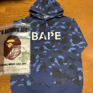 アベイシングエイプ(A BATHING APE)の新品未使用!BAPE!プルオーバーパーカー(パーカー)