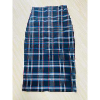 ザラ(ZARA)の【ZARA】ギンガムチェック タイトスカートS(ひざ丈スカート)
