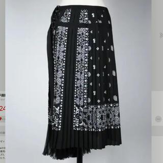 sacai - 入手困難★sacai サカイ大人気ペイズリースカーフ柄プリーツスカート