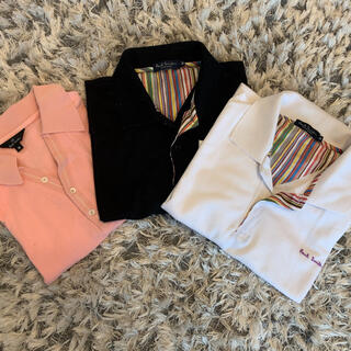 Paul Smith - ポロシャツ Paul Smith ポールスミス 白 黒 ピンク 3枚セット M