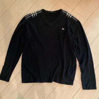 バーバリーブラックレーベル(BURBERRY BLACK LABEL)のバーバリーブラックレーベル3 ロングTシャツ 黒(シャツ)