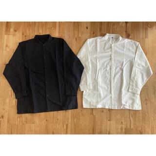 MUJI (無印良品) - 無印良品 スタンドカラーシャツ 2枚セット サイズS~M 新品未使用品