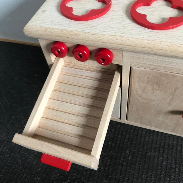 中古 キッチン シンク コンロ グリル キッズ/ベビー/マタニティのおもちゃ(知育玩具)の商品写真