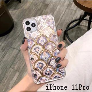 大理石 タイル風 モロッカン グリッター ケース【iPhone 11Pro】 (iPhoneケース)