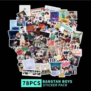 ボウダンショウネンダン(防弾少年団(BTS))のBTS ステッカー 78枚 ✩.*˚(アイドルグッズ)