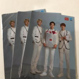 エクソ(EXO)のEXOクリアファイルロッテ免税店 2枚入り3セットとおまけ(K-POP/アジア)