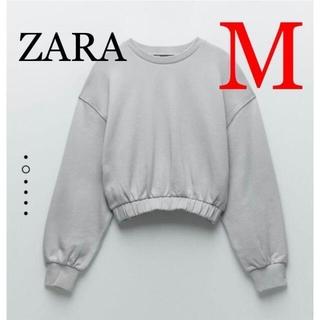 ザラ(ZARA)の1 ZARA ザラ 新品 プラッシュジャージー地トレーナー M(トレーナー/スウェット)