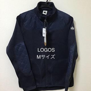 ロゴス(LOGOS)のレディース ロゴス ニット素材 ジップアップジャケット アウター Mサイズ(ブルゾン)
