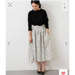 イエナ(IENA)の花柄スカート(ひざ丈スカート)