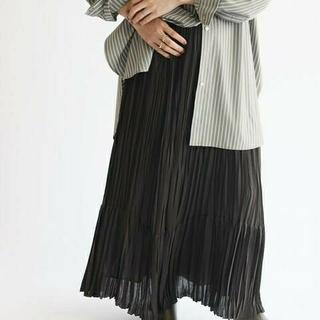 IENA - IENA ジョーゼットティアードプリーツスカート