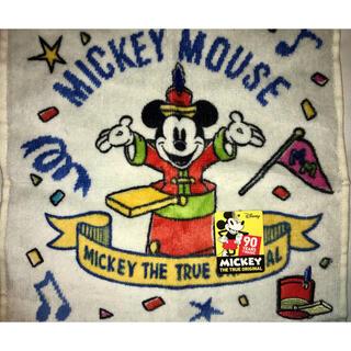 ディズニー(Disney)のミッキーマウス 90周年記念  タオルハンカチ(ハンカチ)