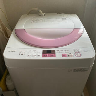 SHARP - SHARP洗濯機6.0kg ES-GE6A-P 2017年購入