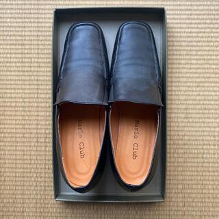 マリークラブ(Marie Club)の黒革パンプス(ローファー/革靴)