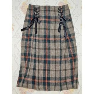 オリーブデオリーブ(OLIVEdesOLIVE)のOLIVE des OLIVE チェックタイトスカート(ひざ丈スカート)