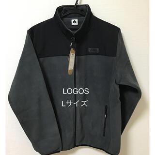 ロゴス(LOGOS)のメンズ ロゴス フリース パネルクロスジャケット ジップアップ Lサイズ(その他)