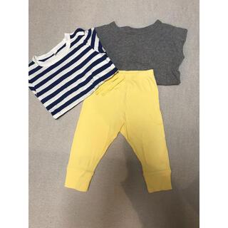 MUJI (無印良品) - 無印ロンT、GAP パンツ、80サイズ