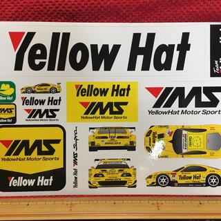イエローハット レーシングチーム ステッカー×2枚(印刷物)