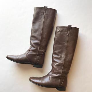 ユナイテッドアローズ(UNITED ARROWS)のユナイテッドアローズ*オディットエオディール レザーロングブーツ 37 23.5(ブーツ)