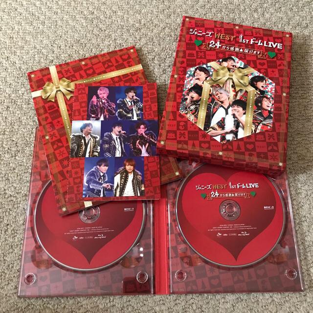 ジャニーズWEST 1stドーム LIVE ■24から感謝■届けます■(初回仕様 エンタメ/ホビーのDVD/ブルーレイ(ミュージック)の商品写真