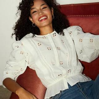 IENA - rouje DANY  blouse  36 ルージュ Jeanne damas