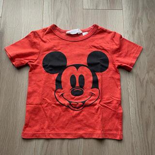 エイチアンドエイチ(H&H)の【可愛い★】H&M 半袖Tシャツ ミッキー 赤 100㎝(Tシャツ/カットソー)
