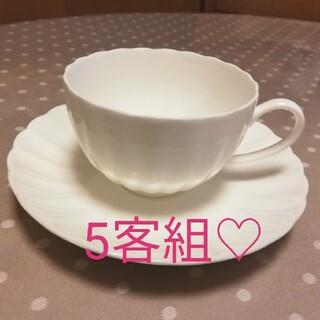 ニッコー(NIKKO)のコーヒーカップ&ソーサー5客組♡(グラス/カップ)