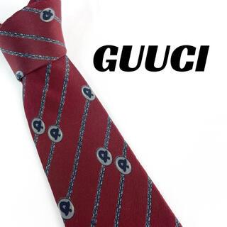 グッチ(Gucci)の【1644】良品!GUCCI グッチ ネクタイ レッド系(ネクタイ)