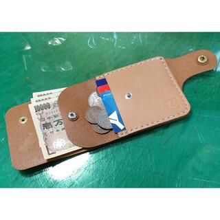 試作 超スリム ハーフウォレット 国産サドル ヌメ革 コンパクト ミニマル 財布