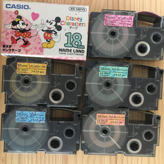 カシオ(CASIO)の《カシオ ネームランド》ディズニーキャラクターテープ18ミリ 5本組(オフィス用品一般)