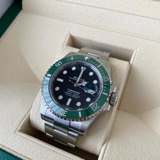 ロレックス(ROLEX)の出品① 国内直営店購入 ROLEX サブマリーナ グリーン 126610LV(腕時計(アナログ))