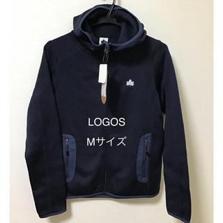 ロゴス(LOGOS)のレディース ロゴス ニット素材 裏起毛 パーカー Mサイズ(パーカー)