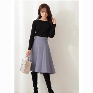 PROPORTION BODY DRESSING - 【1度着用】プロポーションボディドレッシング ヘムレースフレアスカート ブルー
