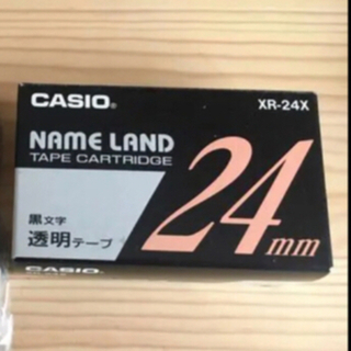 カシオ(CASIO)の《カシオ ネームランド》白テープ・黒文字 24ミリ 3本(オフィス用品一般)