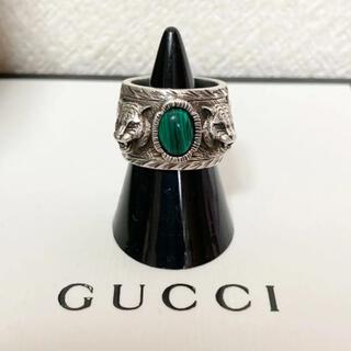 グッチ(Gucci)のGUCCI ガーデン マラカイト キャット リング 【箱付き】(リング(指輪))