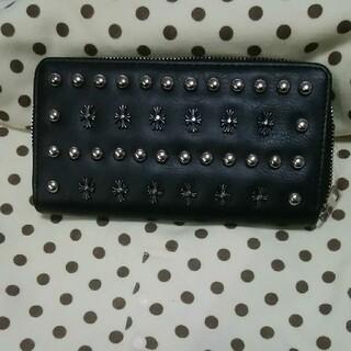 新品 送料込み スタッズ デザイン 長財布 黒色 ブラック BLACK カラー(長財布)