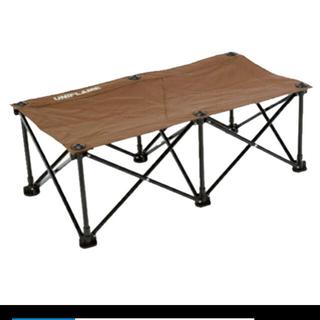 ユニフレーム(UNIFLAME)の【新品】UNIFLAME リラックスベンチ ブラウン×ブラック ユニフレーム(テーブル/チェア)