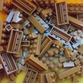 カワダ(Kawada)のナノブロック 茶色 バラ売りもできます(積み木/ブロック)