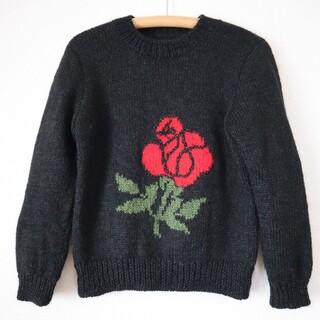 サンタモニカ(Santa Monica)のvintage flower knit(ニット/セーター)