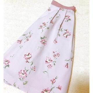 パターンフィオナ(PATTERN fiona)のピンクフラワースカート(ひざ丈スカート)