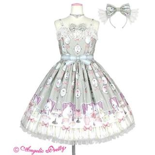 Angelic Pretty - 猫のお茶会 グレー