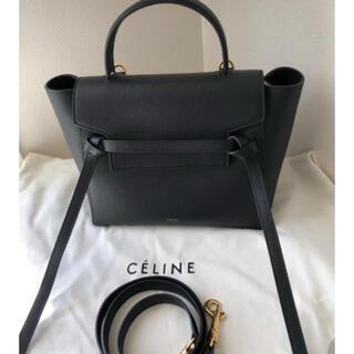 celine - CELINE セリーヌ  ベルトバッグ マイクロ ブラック 美品