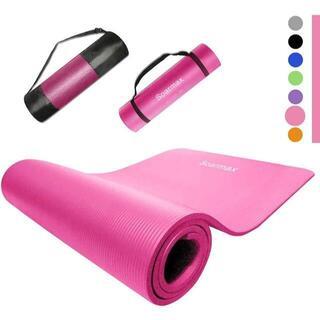 【新品】ヨガマット 10mm トレーニング エクササイズ 軽量 水洗い ピンク(ヨガ)
