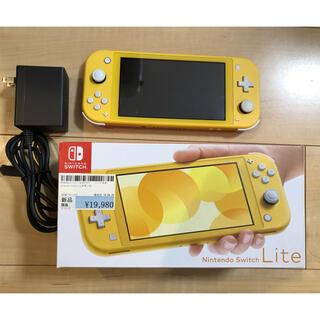 ニンテンドースイッチ(Nintendo Switch)の任天堂Switch lite スイッチライト イエロー 美品 2020年2月購入(家庭用ゲーム機本体)